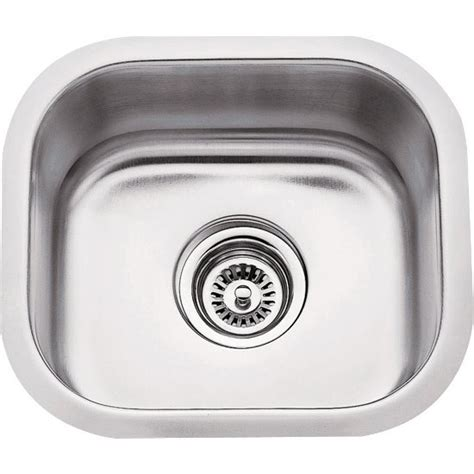 10 Wide Bar Sink by 14 1 2 Wide 18 304 Stainless Steel Bar Sink And