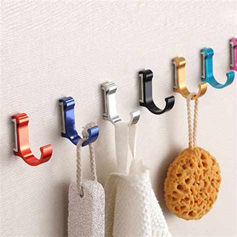 wall hangers for clothes aluminum bathroom single robe hook wall mounted colorful