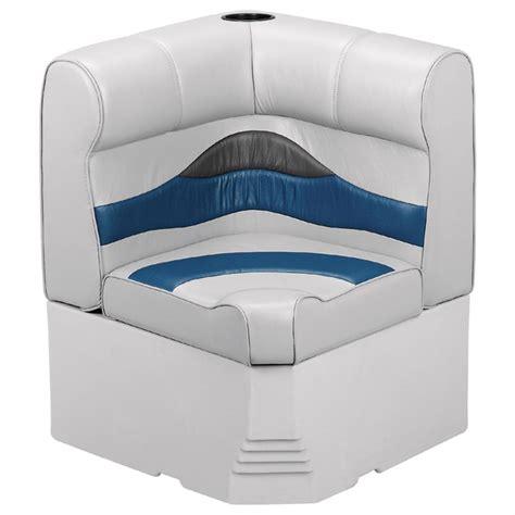 wise premium pontoon boat seats wise premium pontoon corner section with cupholder