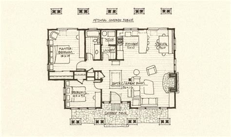 Cabin Floor Plan | cabin plan mountain architects hendricks architecture idaho