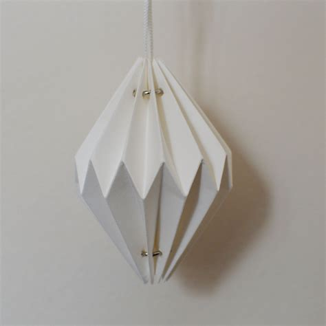 Folded Paper Decorations - set of 6 white paper geometric tree