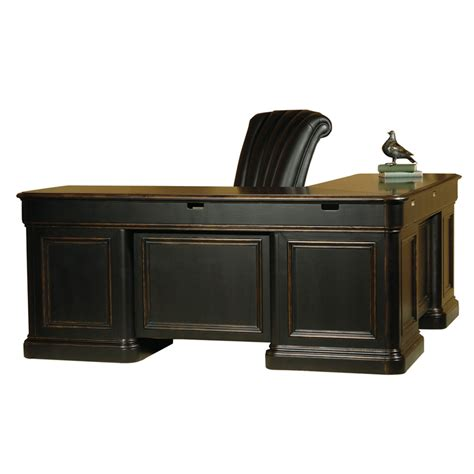 Hekman Executive Desk by Hekman 7 9147 Louis Philippe Executive L Desk Discount Furniture At Hickory Park Furniture Galleries