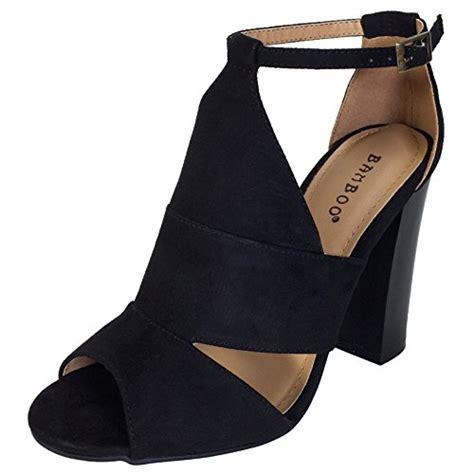 Chunky Heel Peep Toe Sandals bamboo s peep toe chunky heel sandal