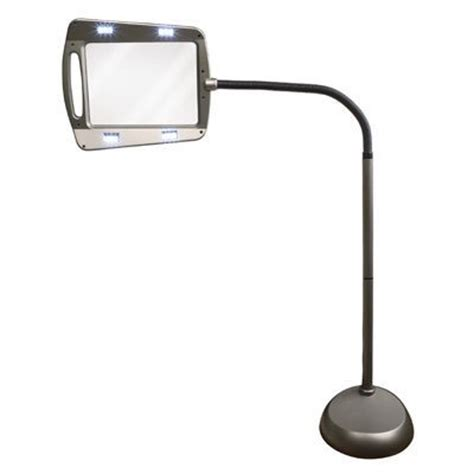 magnifier floor l reviews 2 5x lighted full page magnifier with flexible neck floor