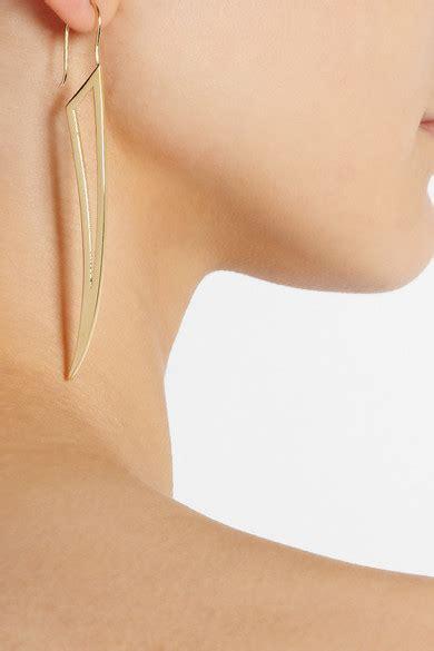 Hollow Wings In The Earrings fisher hollow wing gold plated earrings net a