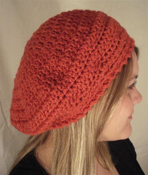 etsy bonnet pattern slouchy beret hat crochet pattern