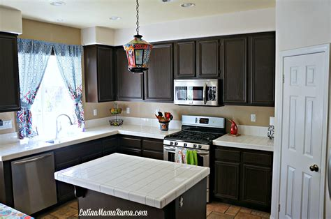 paint kitchen cabinets black diy how to refinish your kitchen cabinets latina mama rama