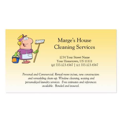 house cleaning company house cleaning business cards ideas