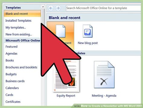 How To Create A Newsletter With Ms Word 2007 12 Steps Create Newsletter Template In Word