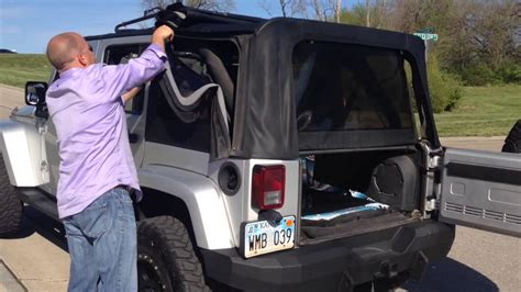 jeep wrangler top removal one person how one person can take the top on a four door jeep