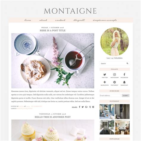 themes for blogger pastel colour blogger template montaigne pipdig