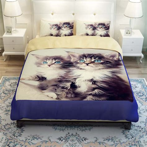 cat comforter sets modern home textile 3d animal cat print bedding sets twin