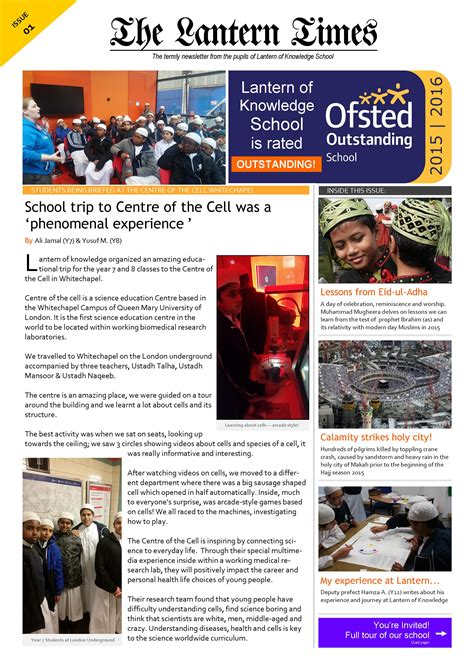 newsletter layout terms the lantern times termly school newsletter 171 lantern of
