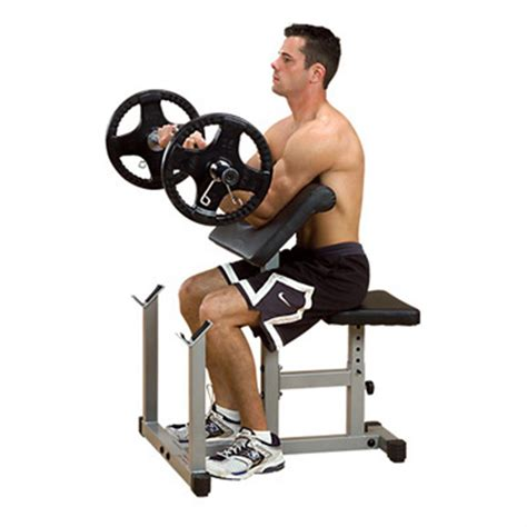 preacher curl bench body solid 174 powerline preacher curl bench 116483 at