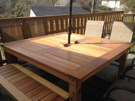 build   patio table  pretty  step  step