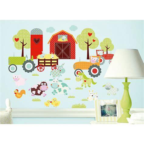 Wandtattoo Kinderzimmer Bauernhof by Wandsticker Tiere Auf Dem Bauernhof 42tlg Roommates