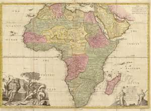 Old Map Of Africa by Historical Map Of Africa 1725