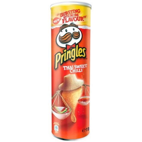 Sale Kaos Mr Pringles pringles thai sweet chilli 190g tin from shop from a