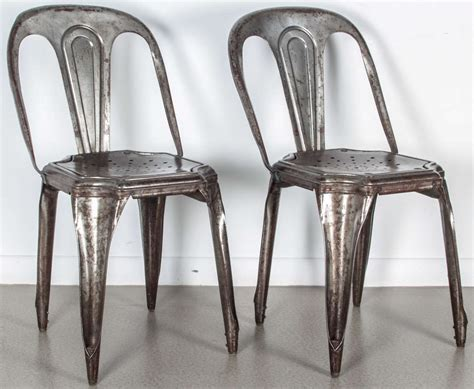 Metal Stacking Chairs by Set Of Four Metal Stacking Chairs By For Sale At 1stdibs