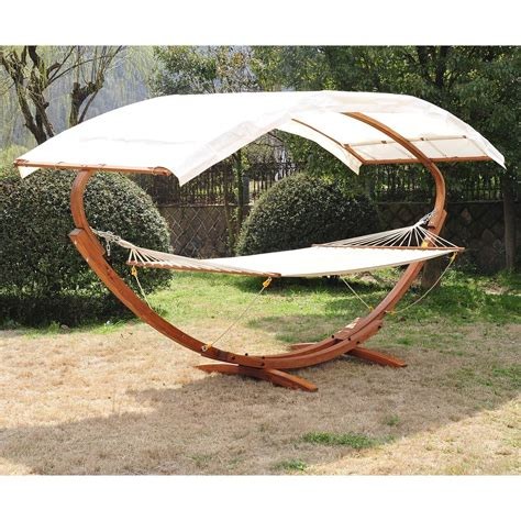 wooden hammock swing wooden double hammock swing with frame and sun roof