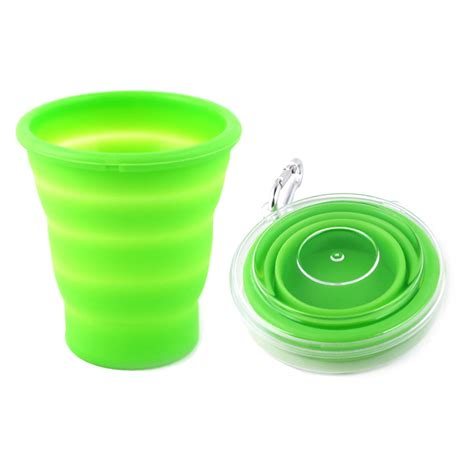 Silicone Foldable Cup collapsible mug silicone folding cup for travelling