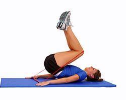 thera band loop abdominal curl up performance