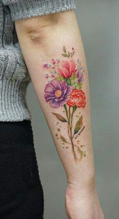 flower tattoo designs for upper arm flowers and colors for arm and clavicle tattoos