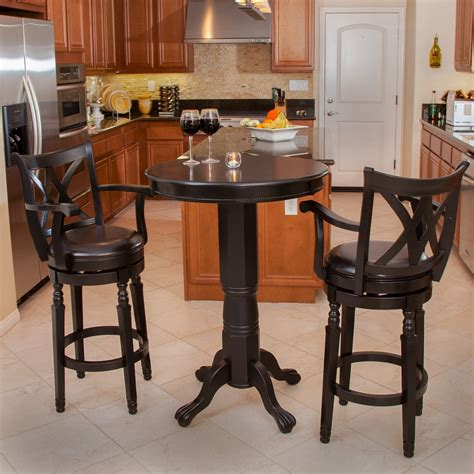 3 bar table set pub table and chairs 3 set marceladick com