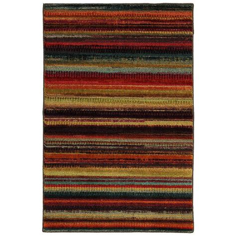 mohawk home accent rug mohawk home boho stripe multi 2 ft 6 in x 3 ft 10 in