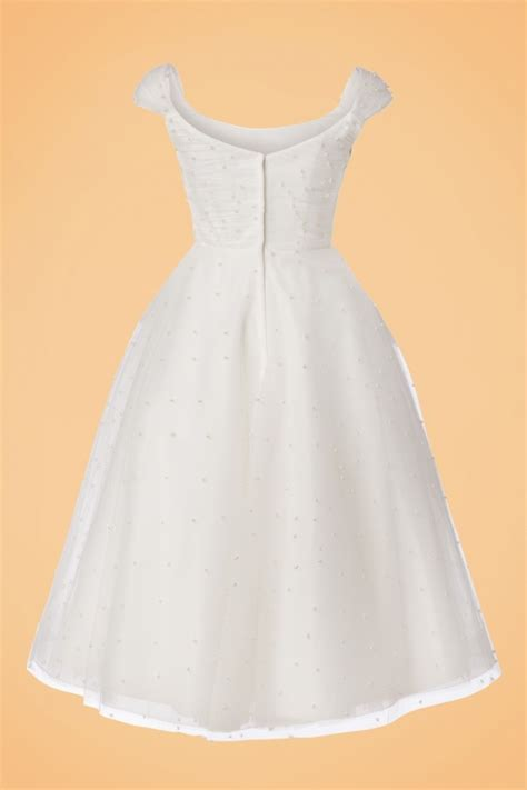 white swing dress wedding 50s betsy bridal swing dress in white