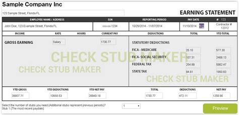16 free online pay stub generator actor resumed