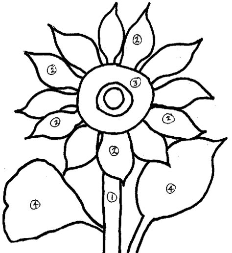 sunflower drawing template www imgkid com the image