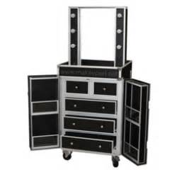 makeup station mirror dual sided studio makeup station w lights mirror wheels