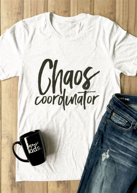 Kaos T Shirt New Avoco chaos coordinator o neck sleeve t shirt bellelily