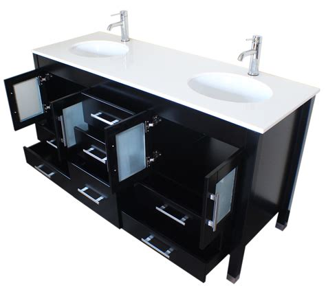 Sinks That Sit On Top Of Vanity by 63 Wood Porcelain Sink Bathroom Vanity Set