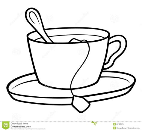 Teacup Outline Drawings by Tea Clipart Black And White Clipart Panda Free Clipart Images