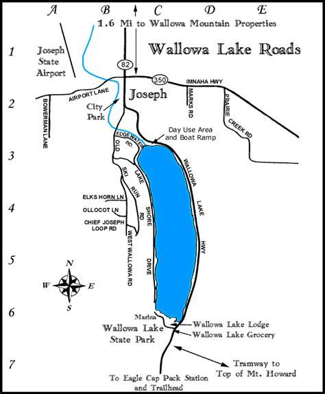 map of joseph oregon wallowa lake oregon roads map