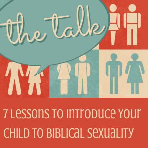 Pdf Talk Lessons Introduce Biblical Sexuality by Help My Child Asked What Is Simple At Home