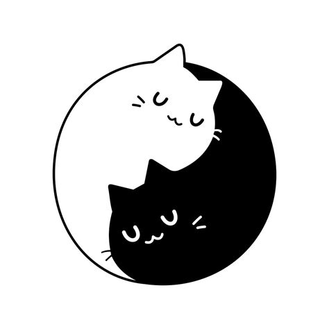 yin  cats kittens graphics design svg dxf