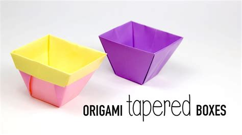 origami flower pot tapered origami box origami flower pot paper kawaii