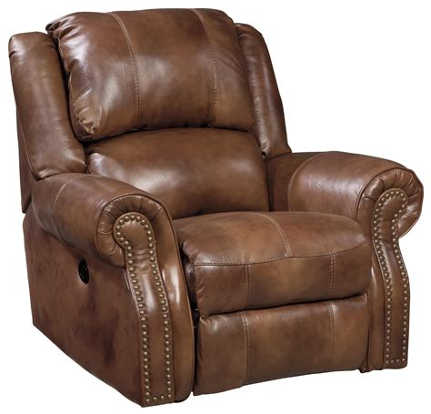 ashley furniture power recliner signature design by ashley walworth u7800198 leather match