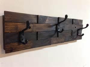 Wall Coat Rack by Rustic Wood Coat Rack Wall Mount With 3 Coat Hooks Entryway