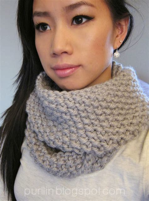 knitting pattern round scarf purllin december seed stitch infinity circle scarf free