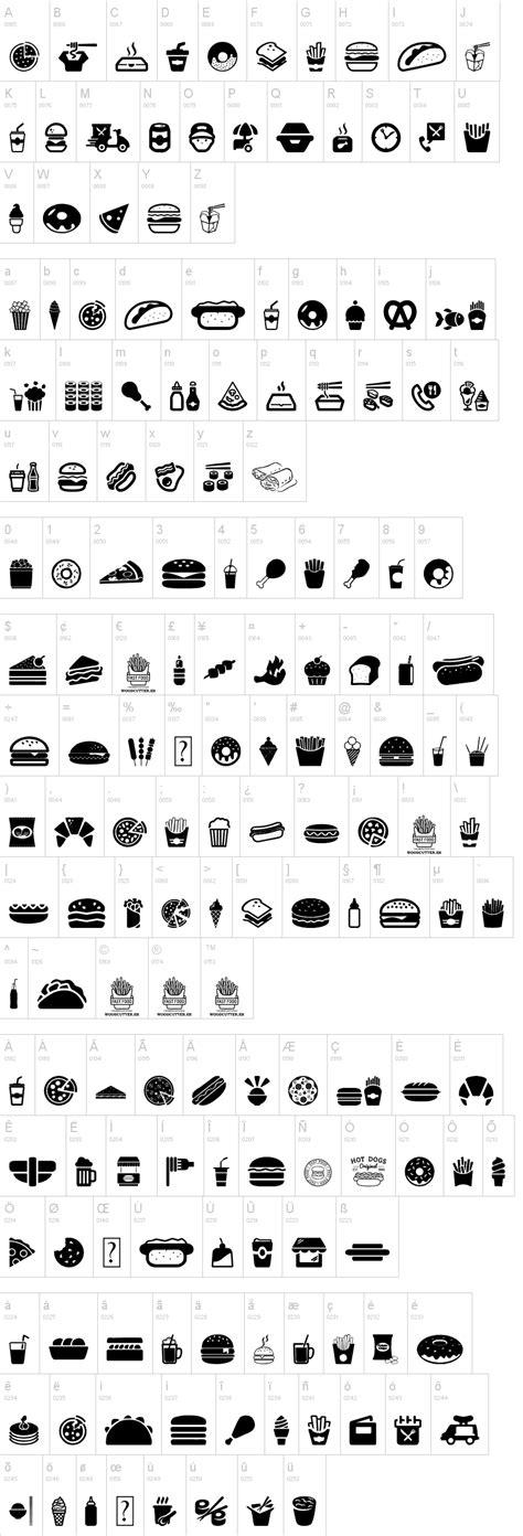 dafont food fast food icons font dafont com
