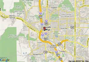 colorado springs map travel map vacations