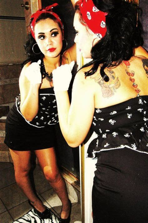 eyeliner tattoo el paso gypsy rose rockabilly style bandana makeup sun city