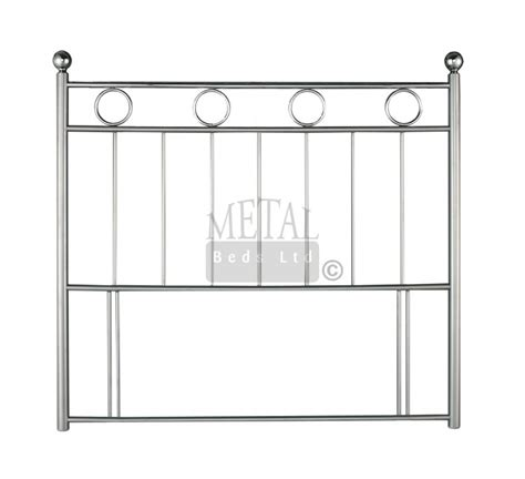Single Bed Metal Headboards by Metal Beds 3ft Single Silver And Chrome Headboard