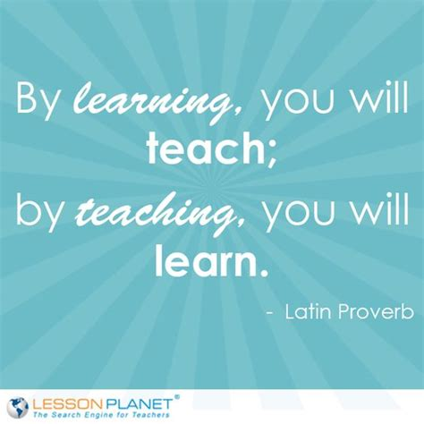 learning to teach in proverbs teaching and learning on