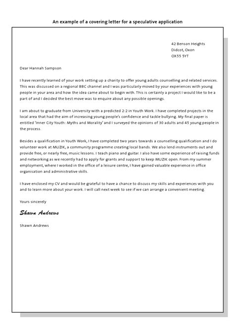 speculative cover letter exle pin by careerzone on cvs and covering letters
