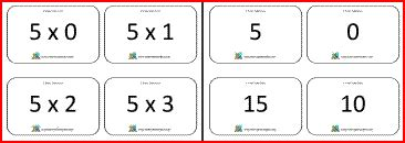 printable flash cards times tables printable math flash cards for multiplication